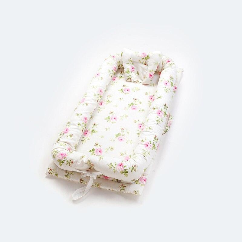 Дорожная кроватка с принтом, переносная детская кроватка, корзина для сна, складной матрас для улицы, защита на Кроватку Новорожденного