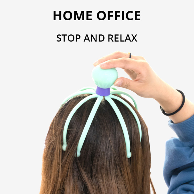 OLOEY Head Massager Neck Massage Octopus Scalp Stress Relax Spa Healing Alloy Health Care Tool Body Head Massage Beauty Tool