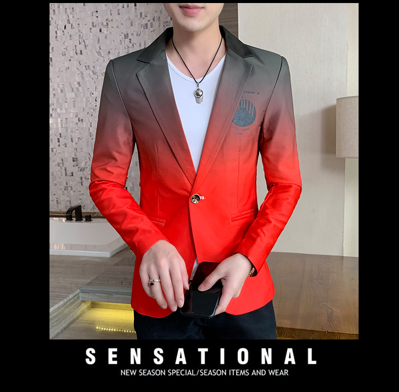Ha6fbf8d0abf24a3f93eb74d70f2f9762r - Male Gradient Blazer Masculino 2020 Spring Autumn Korean Style Blazer For Men Suit Jacket Casual Wedding Business Clothing