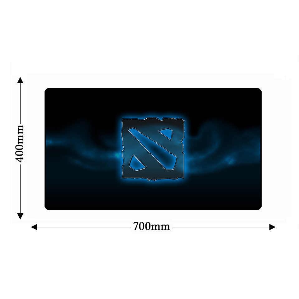 DOTA 2 игровой натуральный резиновый противоскользящий XL компьютерный коврик для мыши настольные коврики большой запирающийся край клавиатура игра геймер ПК ноутбук мышь ОСЧС