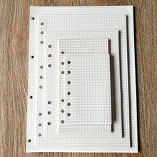 A5 A6 A7 свободный блокнот со съемными листами бумага внутренняя страница записная книжка еженедельник ежемесячный планировщик отверстия Бумага заправка линия сетка пустые бумажные заправки