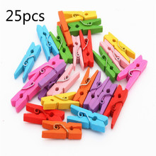 Photo-Clip Clip-Hook Craft-Decoration Wooden Mini 25mm 25pcs DTY