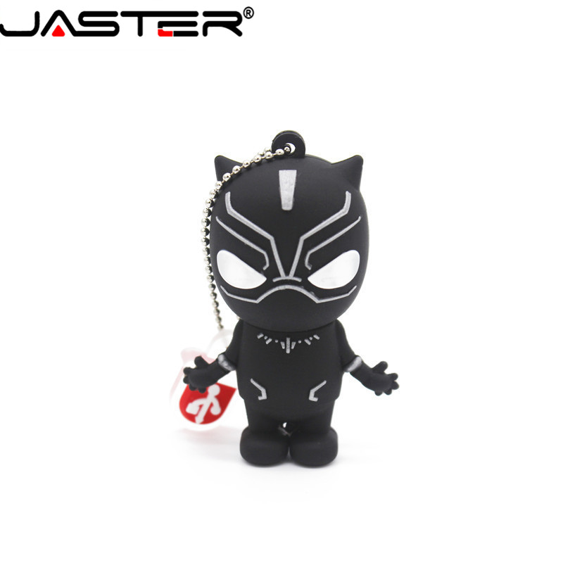 JASTER Marvel Comics Black Panther Spiderman Deadpool USB 2.0 Pen Drive Minions Memory Stick Pendrive 4GB 8G 16GB 32GB 64GB Gift