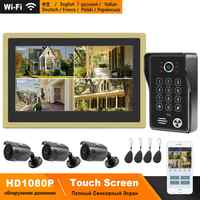 HomeFong Wireless Video Door Phone Wifi Video Intercom for Home 10 inch Touch Screen 1080P Camera Smart Phone Real Time Control