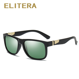 Image 4 - ELITERA Square Wide Frame Sunglasses For Men Women Polarized Glasses