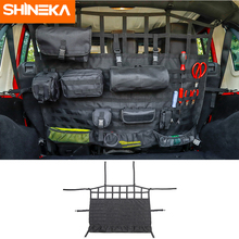 SHINEKA укладки Tidying для Jeep Wrangler JK JL 2007-2018 + Автомобильный багажник Pet изоляция Сетчатая Сумка для хранения для Jeep Wrangler аксессуары