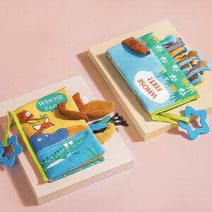 BabyGo детская тканевая книга, Обучающие Игрушки для раннего развития с прямыми и поисковыми детьми, 3D Мягкие тканевые развивающие книги, пода...