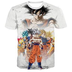 2020 Dragon Ball Z Ultra Instinct God Son Goku Super Saiyan Men Tshirt 3D Printed Summer O-Neck Daily Casual Funny T shirt