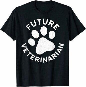 Futuro camiseta de veterinario estudiante médico regalo de amante de los animales regalo Streetwear Fitness Hip-Hop gimnasios camiseta