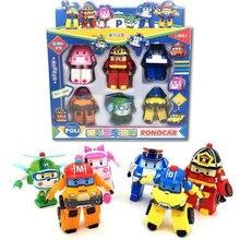 Robocar Корея Робот детские игрушки трансформации Аниме фигурки с рисунками героев из мультфильма «Супер Крылья», оправа из сплава, игрушки дл...