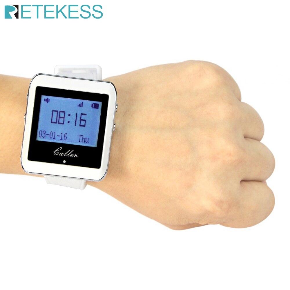 Retekess-reloj receptor de 433MHz, sistema de llamadas inalámbrico, camarero, buscapersonas, equipo de restaurante, Catering, servicio al cliente F3288B