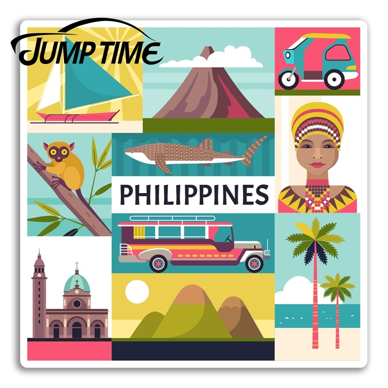 Jump Time For Cool Philippines Vinyl Stickers Sticker Laptop Luggage Travel Car Decal Window Wiper Trunk Car Styling