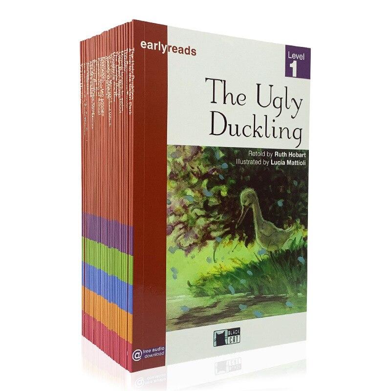 29 тома/комплекты детской одежды, английский градуированных Цвет с картинками в мягком переплете детская мудрость просвещение Книга Истори...
