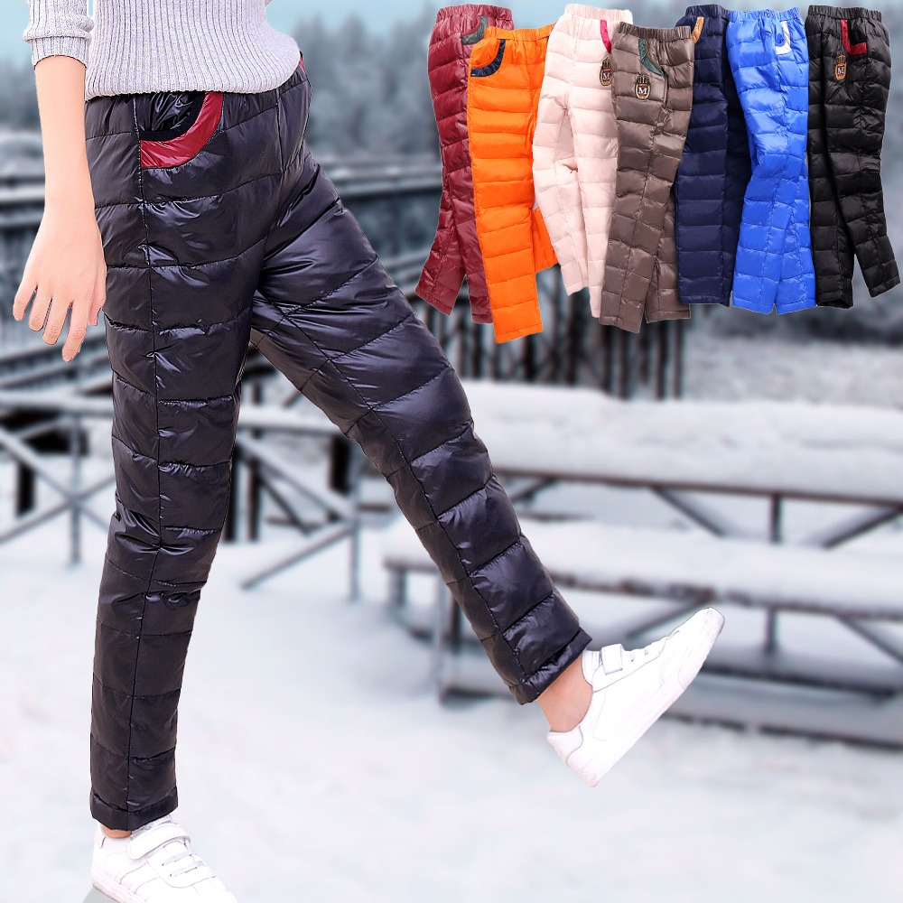 Boys Pants Unisex Trousers Pants Thick Casual Stylish Winter Windproof