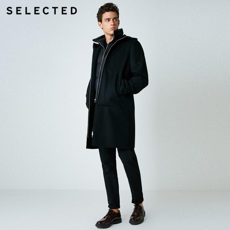 Мужской комплект из двух предметов, шерстяная куртка и серый утиный пух, зимний пуховик, пальто, мужская одежда | 418427503