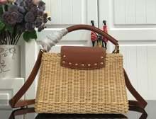 Роскошные дизайнерские женские плетеные сумочки из бамбука и