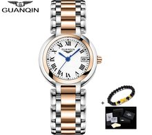 GUANQIN New Women Watch Luxury Pearl Dial Waterproof Dress Watch womn Girl Clock Ladies Fashion Quartz Watch Montre Femme 2019(China)