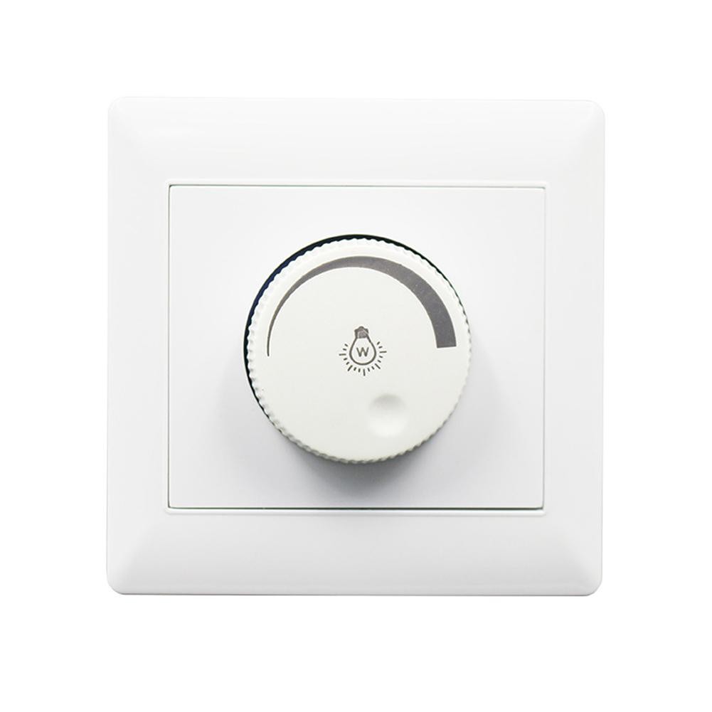 100W 220V Dimmer Switch 86 Type Concealed Installation LED Dimming Controller For Dimmable Ceiling Light Downlight Spotlight