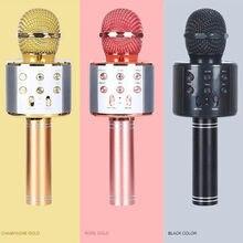3 в 1 караоке bluetooth Беспроводной микрофон Портативный ручной