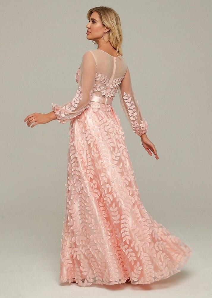 Wedding Party Jurk Elegante Celebrity Fashion Night Club Jurken Vrouwen Roze Jurk Sexy Kerstvakantie - 4