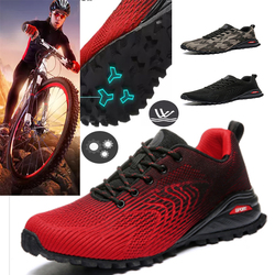 2020 men's bicycle shoes non-slip mountain bike shoes men's road bike shoes breathable outdoor climbing sports large size to 51#