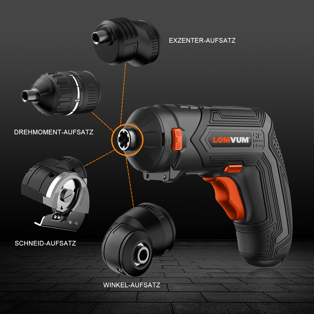 home improvement : Function 2 IN 1 Brushless Electric Wrench Impact Wrench Electric Screwdriver Socket Without Battery Accessories Electric Wrench