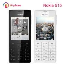 Восстановленный Оригинальный Мобильный телефон NOKIA 515, 5 МП, 2,4 дюйма, две Sim карты, разблокированный