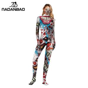 Image 2 - NADANBAO 2019 Purim Carnival Cosplay Joker COS Costumes For Women Clothing Cosplay Bodysuit Movie Costume Clown Catsuits