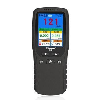 AQI Air Quality Analysis Tester PM1.0 PM2.5 PM10 HCHO TVOC Temperature Humidity Monitor Gas Detector Analyzer Measuring Tool