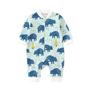 Image 3 - Pureborn Neugeborenen Unisex Baby Overall Langarm Baby Junge Mädchen Kleidung Baumwolle Cartoon Gedruckt Frühling Herbst Baby Romper Pyjamas