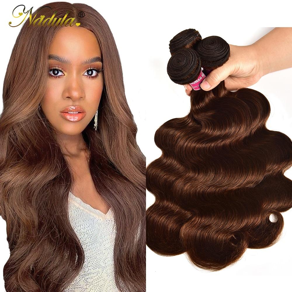 #4 Color Body Wave Hair 1/3/4 Bundles    Body  Bundles Double Weft 28 30 inch 1