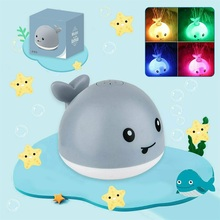 Electric-Toy Whale-Shape Water-Jet Baby with Light And Music for Exquisite Induction