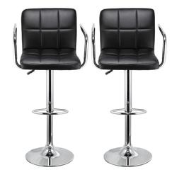 2 шт./компл., кухонные кожаные стулья, вращающиеся барные стулья, регулируемые по высоте, для дома, офиса, пневматические, для отдыха, ручной р...