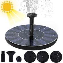Solar Power Water Fountain Garden Pool Pond Top Hone Decor Solar Pump Free Standing Floating Solar Bird Bath Garden Decor
