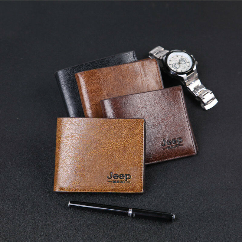 Business Men Leather Genuine Bifold Credit ID Card Holder Slim Wallet Billfold Wallet Male Purse Bank/ID/Credit Card Holder