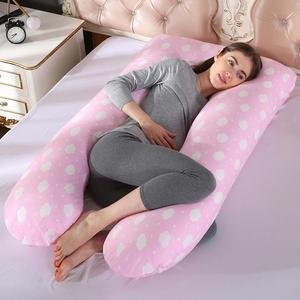 Image 3 - Poduszka do spania zapewniająca wsparcie dla kobiet w ciąży Body 100% bawełniana poszewka w kształcie litery U poduszki ciążowe ciąża boczne podkłady pościel