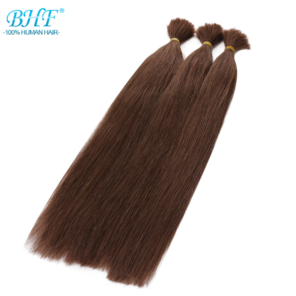 BHF Human Hair Crochet Bulk Brazilian Hair Weave Bundles Remy Bulk Human Hair No Weft 100G/pieces