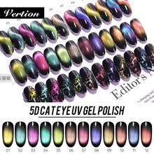 Verntion Chameleon Magnetic UV Nail 9D Galaxy Cat Eyes Led Gel Nail Polish Varnish Nail Art Shiny Gel Need Base Coat Cat Eye Gel