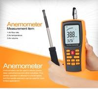GM8903 wind geschwindigkeit meter lange proble heißer draht anemometer mit 350 gruppen daten protokollierung und PC software