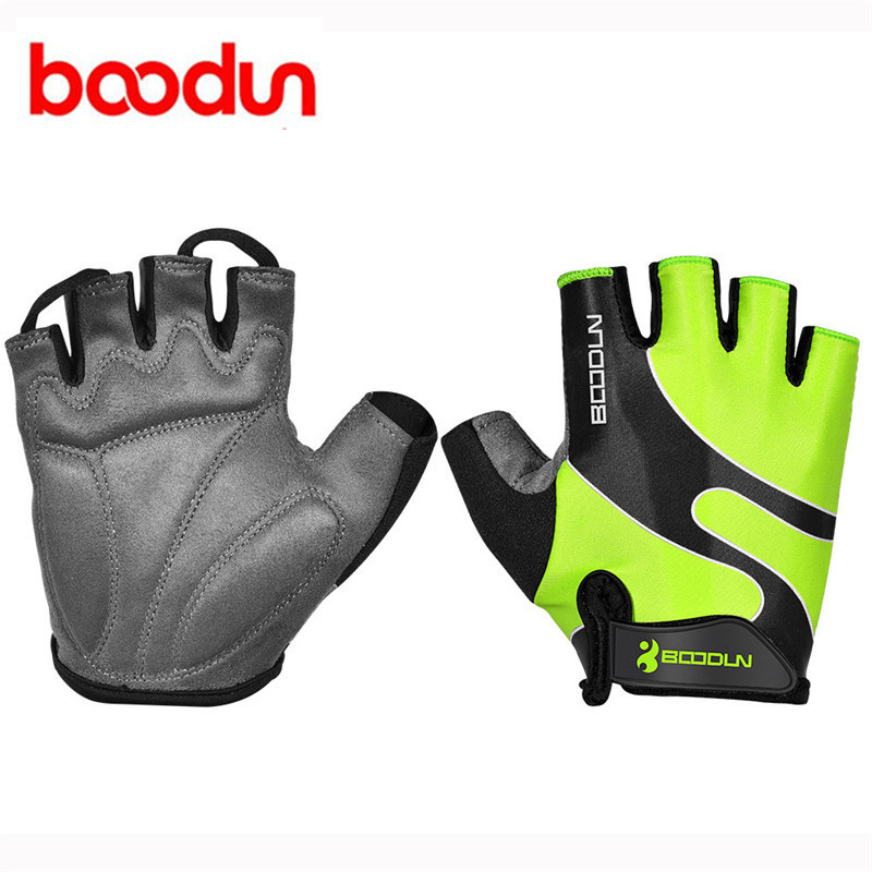 Boodun Men Lycra Cycling Gloves Half Finger Breathable Anti Skid Gloves For Sports Riding Racing Bicycle Gloves Guantes