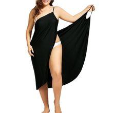 Mulher plus size vestido pareo praia cobrir envoltório Oufisun biquíni maiô femme robe de plage femme túnica beachwear kaftan