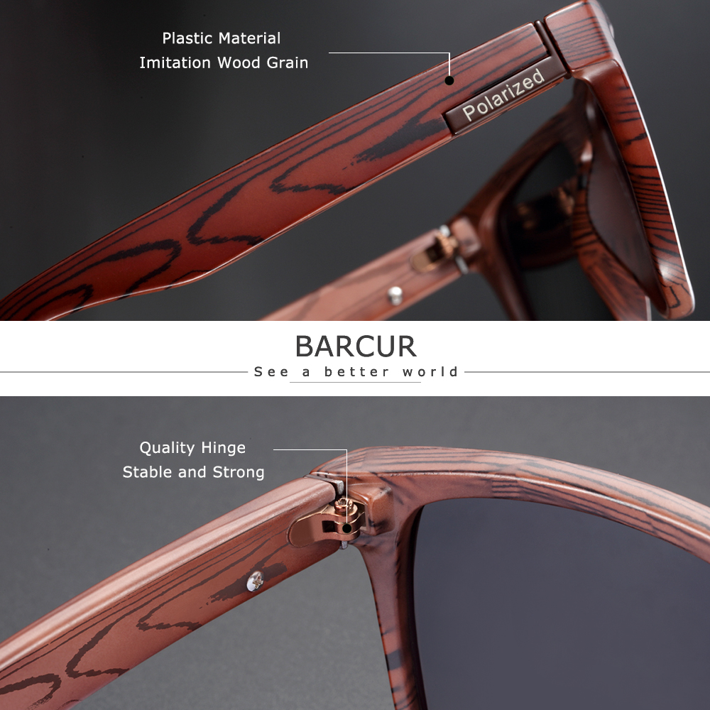 BARCUR Polarized Imitation Wood Sunglasses for Men Googles Women Sunlass Retro Sun Glasses Oculos de sol Goggles Home, Pets and Appliances Men's Goggles af7ef0993b8f1511543b19: Brown Blue|Brown Brown|Brown Gray|Gun Blue|Gun Brown|Gun Gray