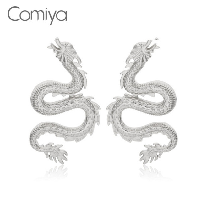 Comiya Korean Stud Earrings For Women Gold Color Zinc Alloy Feminino Fashion Brincos Crystal Mosaic Animal.jpg 640x640 - Comiya Korean Stud Earrings For Women Gold Color Zinc Alloy Feminino Fashion Brincos Crystal Mosaic Animal Snake Shape Earring