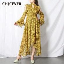 Женское винтажное платье с v образным вырезом длинным рукавом
