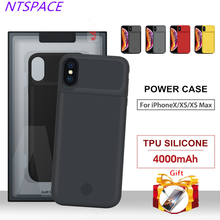 NTSPACE Ultra Thin Power Bank Back Cover For iPhone XS Max/XR Portable Back Clip Battery Charger Case For iPhone X/XS Power Case