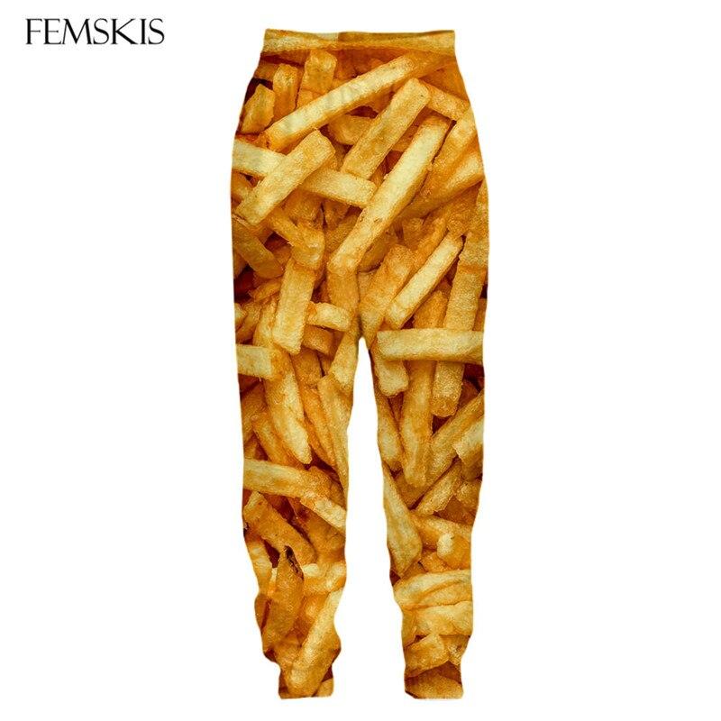 Купить джоггеры femski с рисунком картофеля фри тренировочные штаны