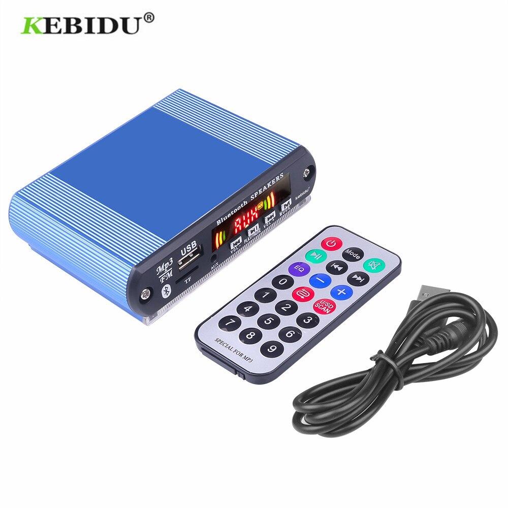 Bluetooth MP3 декодер KEBIDU своими руками, плата модуля 5 в 12 В, USB TF FM радиомодуль, беспроводной MP3-плеер с функцией записи, автомобильный комплект