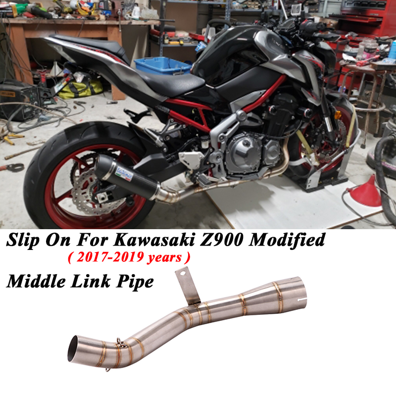 Pipe Z900 51mm Motorcycle Exhaust Kawasaki Muffler Escape-Modified On Slip For Middle-Connection-Link