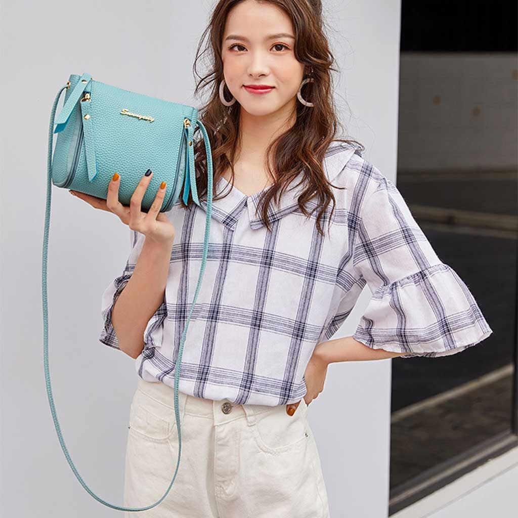 2019 nova moda bolsa de ombro casual bolsa mensageiro simples bolsa