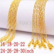5 peças feminino alta jóias 1.9mm 18 k ouro figaro corrente colar charme colar de ouro 16